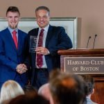 Alexander Velitchko receives the SEO Genius Award from Harvard Club of Boston Expert Story Summit