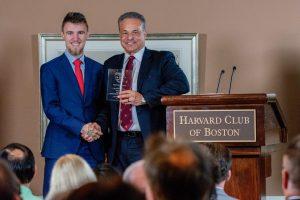 Alexander Velitchko receives the SEO Genius Award from Harvard Club of Boston Expert Story Summit