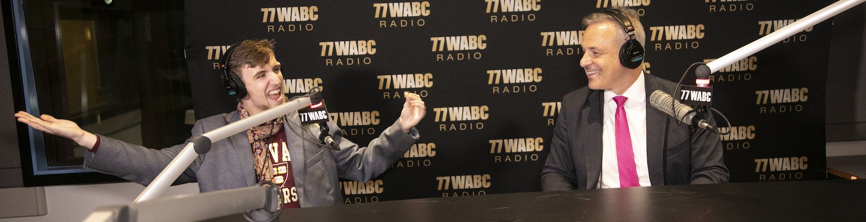 "Alexander Velitchko with Clint Arthur on 77 WABC ""The Greatest Show of All Time"""